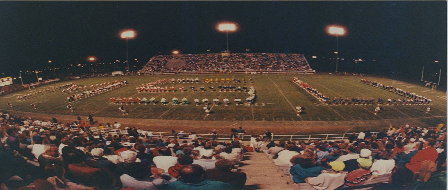 Mankato State University Marching Band at Blakeslee Stadium 1990