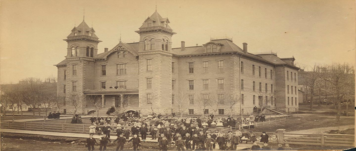 Old Main Building at Mankato Normal School 1884