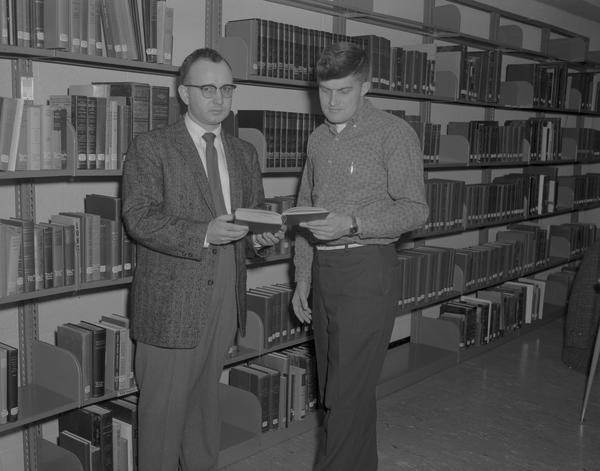 William Lass with a student