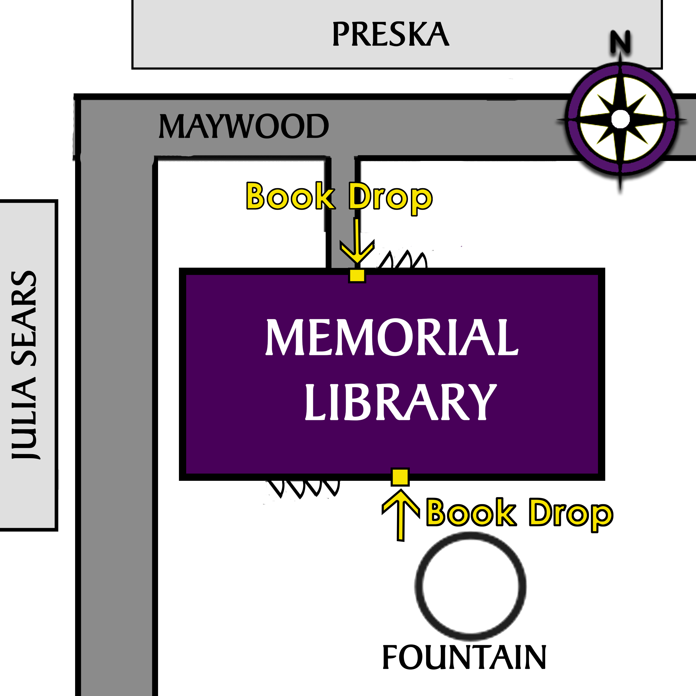 Book drop locations